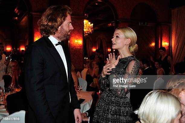 Patrick LiotardVogt and Carey Mulligan attend the ASMALLWORLD Gala Dinner for Alzheimer Society at the Gstaad Palace Hotel on December 15 2012 in...