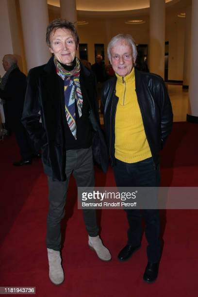 Patrick Loiseau and Dave attend Hugues Aufray performs at Salle Pleyel on October 18 2019 in Paris France