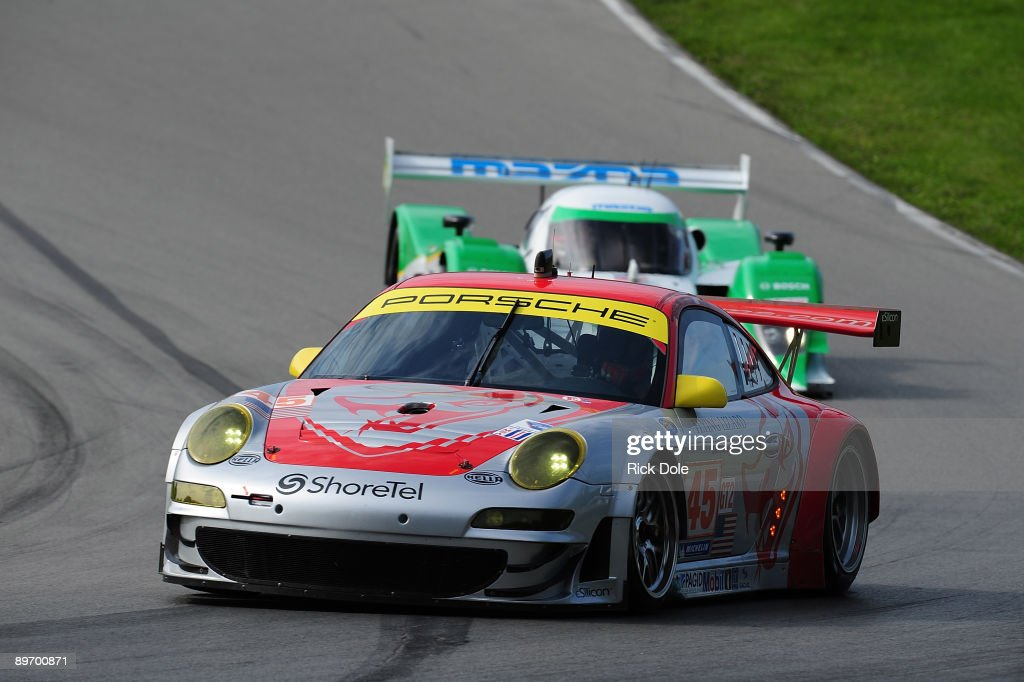 Charming Patrick Long Drives The # 45 Flying Lizard Motorsports Porsche During  Practice For The American Le Awesome Ideas