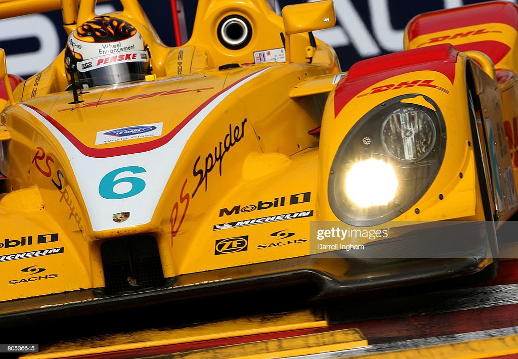 Captivating Patrick Long Drives The #6 Penske Racing Porsche RS Spyder During The  American Le Mans