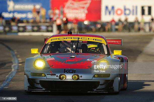 Patrick Long of the United States drives the Flying Lizard Motorsports Porsche during the FIA World Endurance Championship 60th Anniversary Mobil 1...