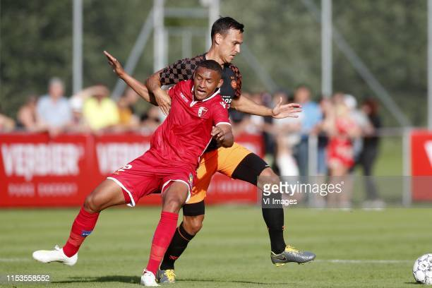 , Patrick Luan of FC Sion, Trent Sainsbury of PSV during the Pre-season Friendly match between FC Sion v PSV Eindhoven at Stade Saint-Marc on July...