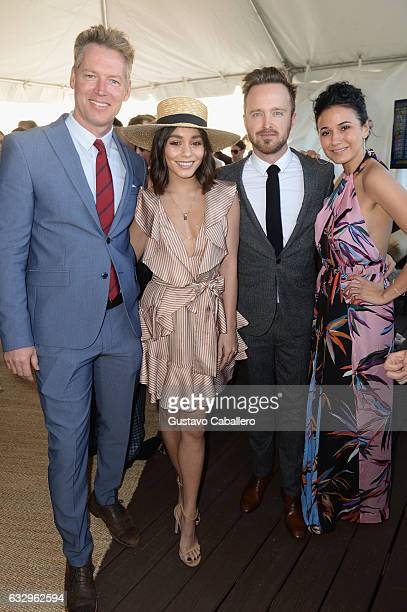 Patrick M Knapp SchwarzeneggerVanessa Hudgens and Aaron Paul attends The Inaugural $12 Million Pegasus World Cup Invitational The World's Richest...