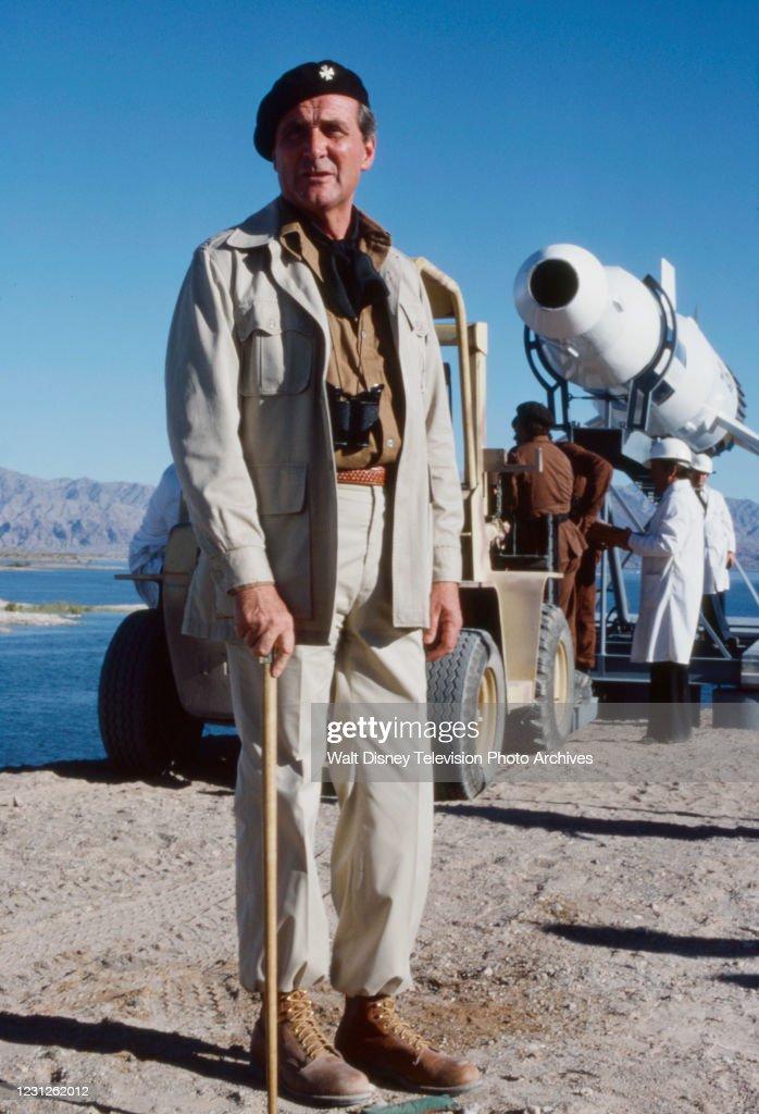Patrick Macnee Appearing In 'The Billion Dollar Threat' : News Photo