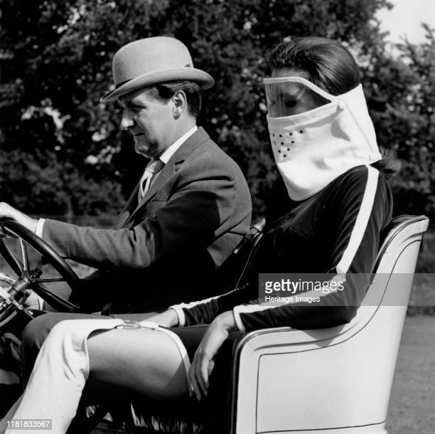 Patrick Macnee & Diana Rigg in 1905 Vauxhall filming the Avengers at Beaulieu 1966. Creator: Unknown.