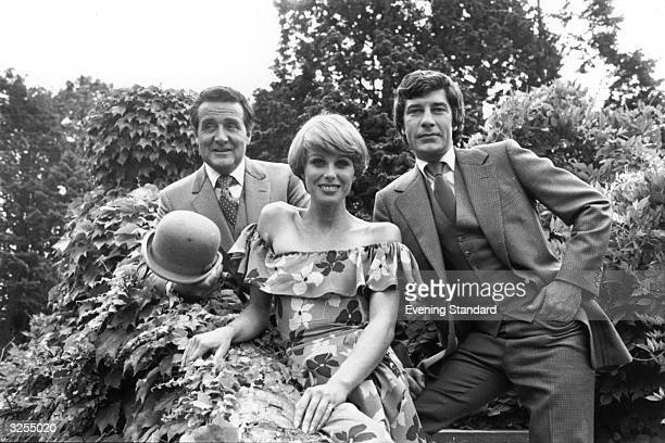 Patrick MacNee, Joanna Lumley and Gareth Hunt pose for the publicity shots for their new TV series 'The New Avengers'.