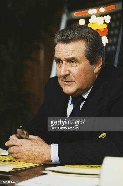 Patrick Macnee stars as Sir John Raleigh in the spy series 'The Man From UNCLE', 1983. United States.