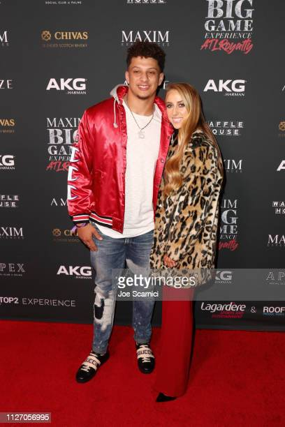 Patrick Mahomes II and Brittany Matthews attend The Maxim Big Game Experience at The Fairmont on February 02 2019 in Atlanta Georgia