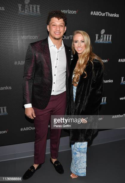 Patrick Mahomes II and Brittany Matthews attend the world premiere event for The Team That Wouldn't Be Here documentary hosted by Verizon on January...