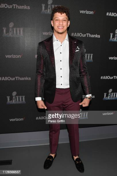 Patrick Mahomes II attends the world premiere event for The Team That Wouldn't Be Here documentary hosted by Verizon on January 31 2019 in Atlanta...