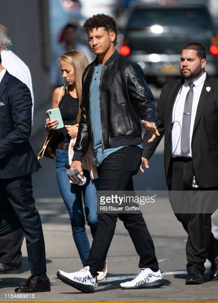 Patrick Mahomes II is seen at 'Jimmy Kimmel Live' on July 08 2019 in Los Angeles California