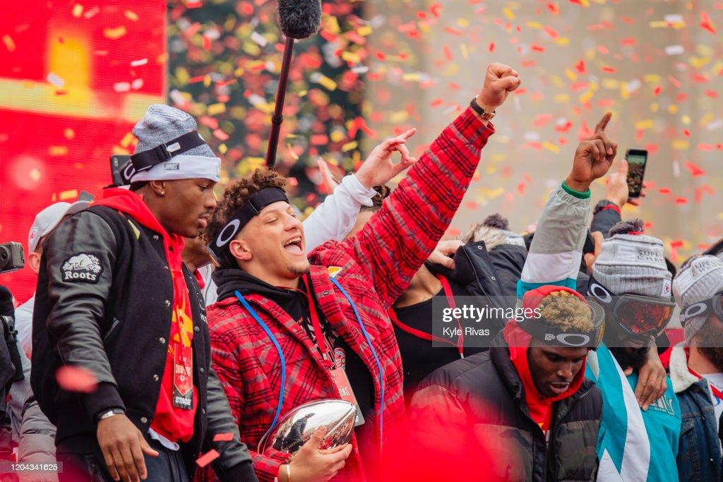 Kansas City Chiefs Victory Parade : News Photo