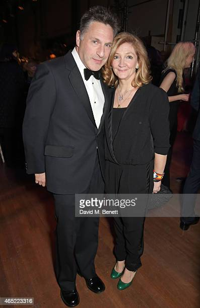 Patrick Marber and Debra Gillett attend Fast Forward The National Theatre's fundraising gala at The National Theatre on March 4 2015 in London England