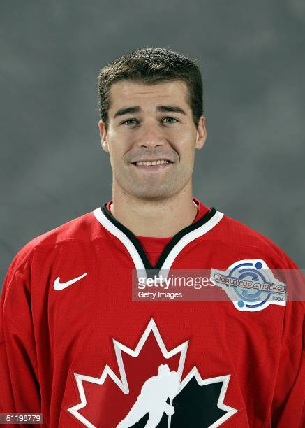 Patrick Marleau of Team Canada poses for a portrait during camp at the University of Ottawa Ottawa Ontario August 19 2004