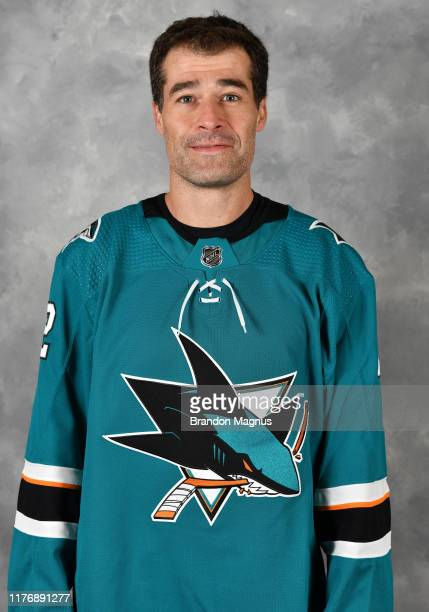 Patrick Marleau of the San Jose Sharks poses for his official headshot for the 2019-2020 season at Solar4America on October 16, 2019 in San Jose,...