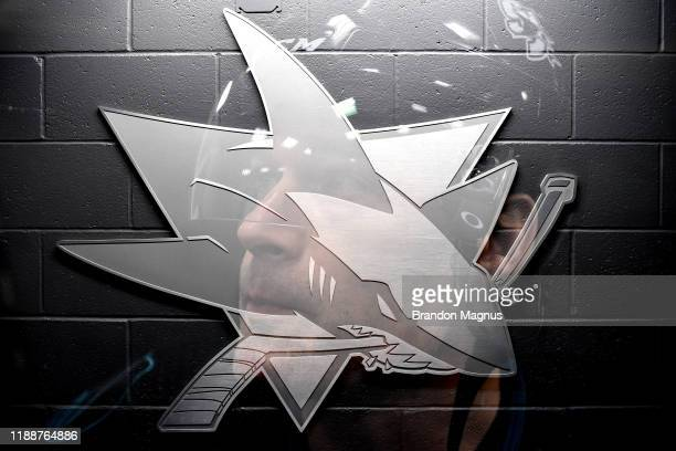 Patrick Marleau of the San Jose Sharks prepares for warmups against the Vancouver Canucks at SAP Center on December 14 2019 in San Jose California