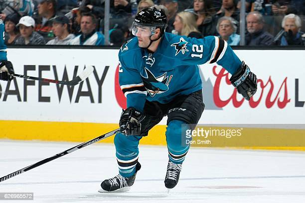 Patrick Marleau of the San Jose Sharks skates during a NHL game against the Anaheim Ducks at SAP Center at San Jose on November 26, 2016 in San Jose,...