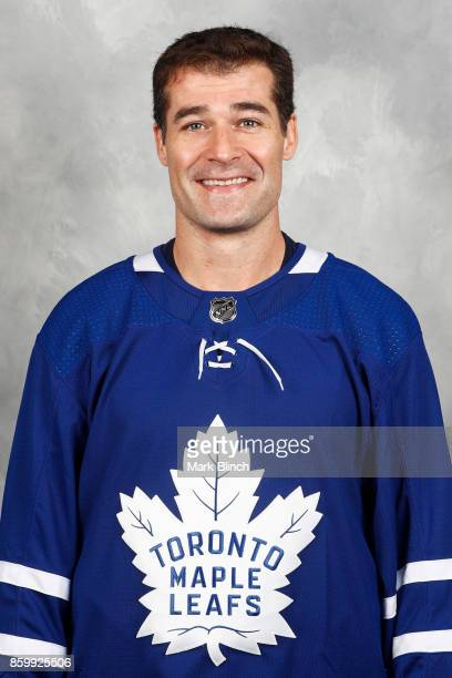 Patrick Marleau of the Toronto Maple Leafs poses for his official headshot for the 20172018 season on September 14 2017 at the MasterCard Centre in...