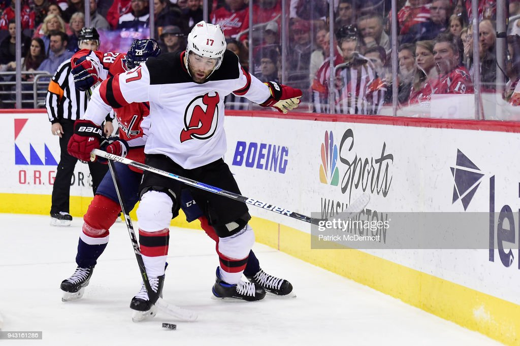 best cheap 83897 a2e49 Patrick Maroon of the New Jersey Devils and Jakub Jerabek of ...