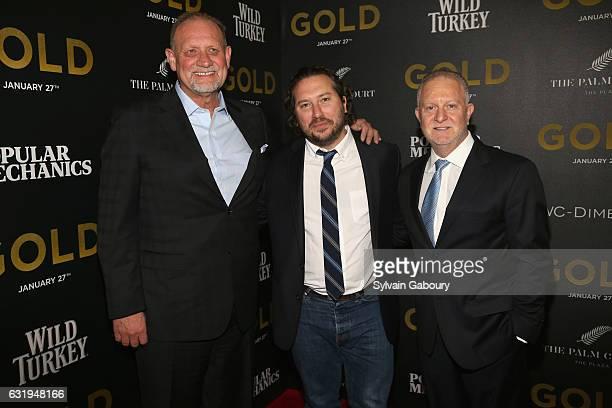 Patrick Massett Teddy Schwarzman and John Zinman attend TWCDimension with Popular Mechanics The Palm Court Wild Turkey Bourbon Host the Premiere of...