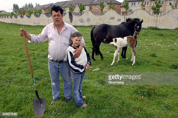 Patrick McCarthy and his Daughter Ciara pose on an estate in Moyross Limerick City Ireland on Monday April 30 2007 McCarthy who has been grazing...