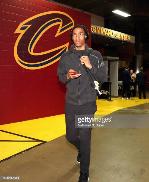 Patrick McCaw of the Golden State Warriors arrives at the arena before Game Four of the 2017 NBA Finals against the Cleveland Cavaliers on June 9...