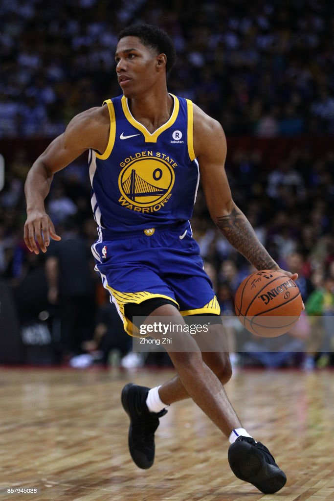 Patrick McCaw #0 of the Golden State Warriors in action during the game between the Minnesota Timberwolves and the Golden State Warriors as part of 2017 NBA Global Games China at Universidade Center on October 5, 2017 in Shenzhen, China.