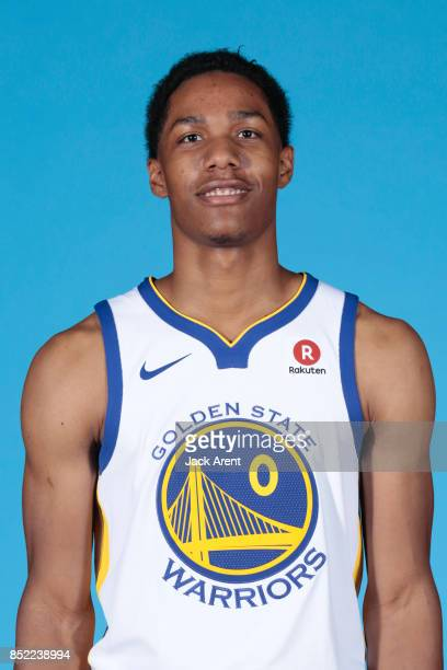 Patrick McCaw of the Golden State Warriors poses for a head shot during media day on September 22 2017 at Oracle Arena in Oakland California NOTE TO...