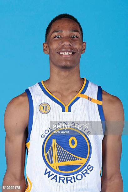 Patrick McCaw of the Golden State Warriors poses for a head shot during the 20162017 Media Day on September 26 2016 at the Warriors practice facility...