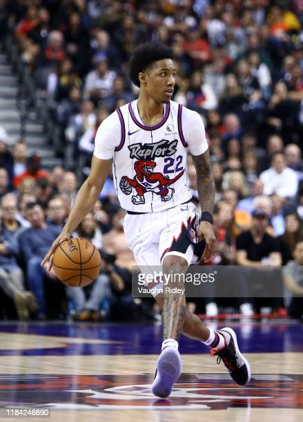 Patrick McCaw of the Toronto Raptors dribbles the ball during the second half of an NBA game against the Orlando Magic at Scotiabank Arena on October...