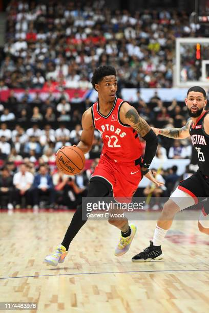 Patrick McCaw of the Toronto Raptors handles the ball against the Houston Rockets during the 2019 NBA Japan Games on October 8 2019 at Saitama Super...