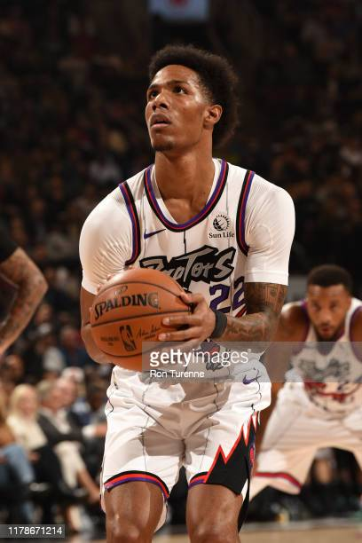 Patrick McCaw of the Toronto Raptors shoots the ball against the Orlando Magic on October 28 2019 at the Scotiabank Arena in Toronto Ontario Canada...