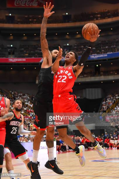 Patrick McCaw of the Toronto Raptors shoots the ball against the Houston Rockets during the 2019 NBA Japan Game on October 10 2019 at Saitama Super...