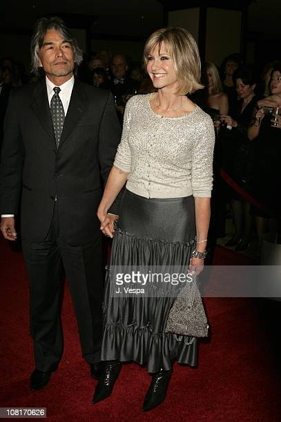 Patrick McDermott and Olivia NewtonJohn during 2nd Annual Penfolds Gala Black Tie Dinner Red Carpet at Century Plaza Hotel in Los Angeles California...