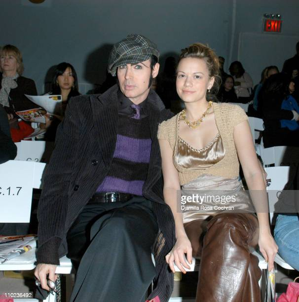 Patrick McDonald and Bethany Joy Lenz during Olympus Fashion Week Fall 2005 Tracy Reese Front Row and Backstage at The Plaza Bryant Park in New York...