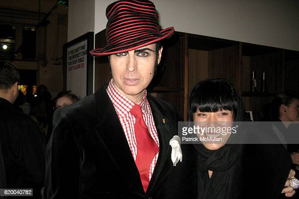 Patrick McDonald and Gemma Kahng attend BoConcept and KolDesign Asian Holiday Party at BoConcept on December 16 2008 in New York City