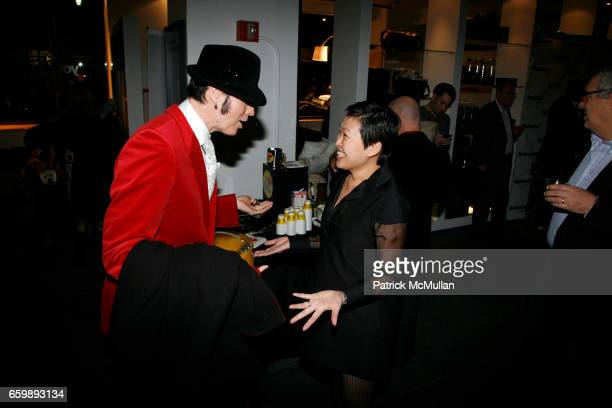 Patrick McDonald and Niki Cheng attend 7th Annual BoCONCEPT/KOLDESIGN Holiday Party at Bo Concept Madison Ave on December 15 2009 in New York