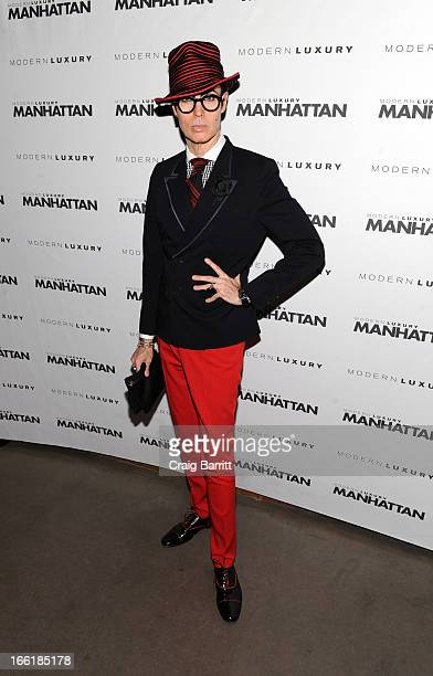 Patrick McDonald attends Manhattan Magazine Men's Issue party hosted By Zach Quinto on April 9 2013 in New York United States