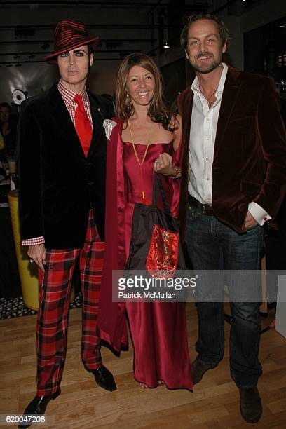 Patrick McDonald Cindi Cook and Andrew Brumger attend KolDesign and BoConcept's annual Holiday party at BoConcept on December 16 2008 in New York City
