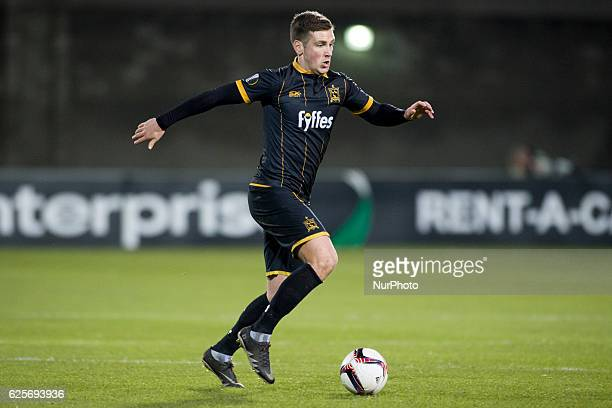 Patrick McEleney of Dundalk controls the ball during the UEFA Europa League Group D match between Dundalk FC and AZ Alkmaar at Tallaght Stadium in...