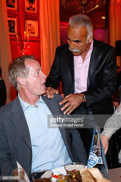Patrick McEnroe and Former tennis player Mansour Bahrami attend the Legends of Tennis Dinner Held at Restaurant Fouquet's whyle Roland Garros French...