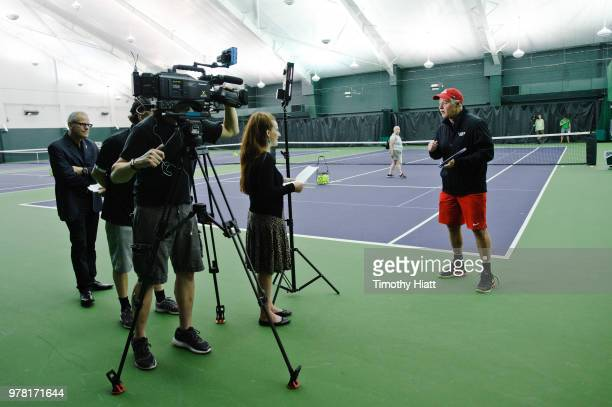 Patrick McEnroe attends the Laver Cup Ball Kid Tryouts at Midtown Athletic Club on June 18 2018 in Chicago Illinois