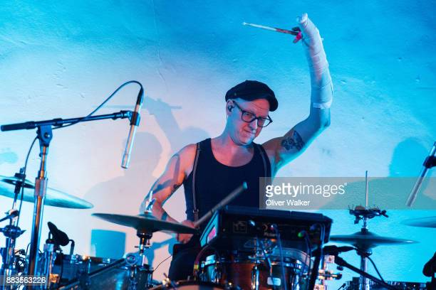 Patrick McGee of Stars performs at Hollywood Forever on November 30 2017 in Hollywood California