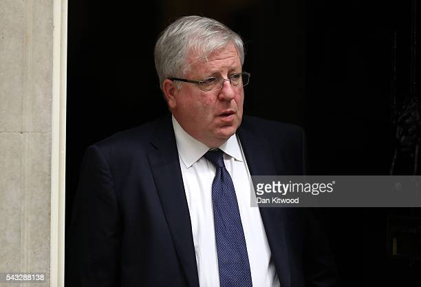 Patrick McLoughlin Secretary of State for Transport leaves Downing Street following a cabinet meeting on June 27 2016 in London England British Prime...