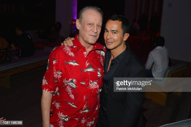 Patrick McMullan and Alberto Latorre attend Carlos Betancourt at ABMB 2018 at The W Hotel South Beach on December 6 2018 in Miami FL