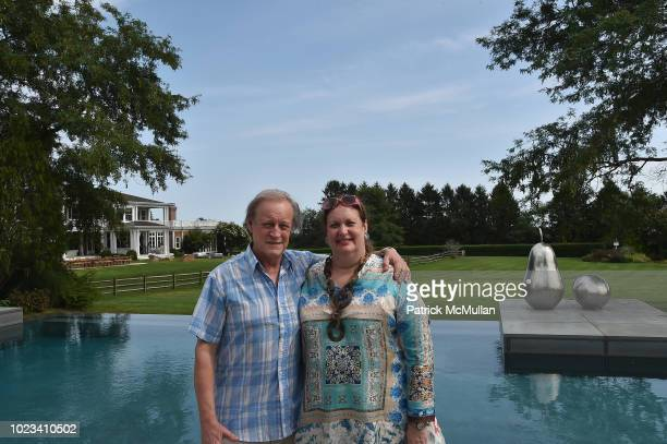 Patrick McMullan and Alison Mazzola attend A Maison de Mode Summer Fete hosted by Amanda Hearst at Private Residence on August 25 2018 in Water Mill...