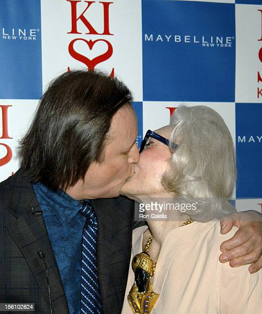 Patrick McMullan and Anne Slater during Maybelline New York Hosts the Launch of Patrick McMullan's Book 'Kiss Kiss' at The Four Seasons Restaurant in...