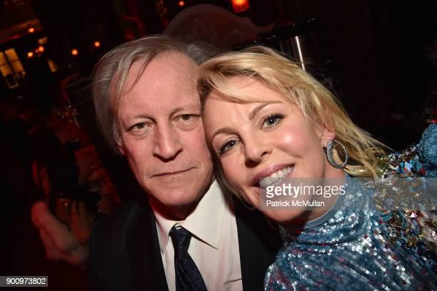 Patrick McMullan and Elizabeth Pratt attend Julie Macklowe's 40th birthday Spectacular at La Goulue on December 19 2017 in New York City