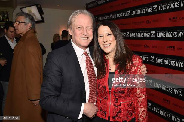 Patrick McMullan and Karen Pearl attend the Love Rocks NYC PreConcert Cocktail at CESCA Restaurant on March 15 2018 in New York City