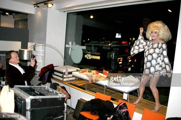 Patrick McMullan and Lady Bunny attend 8th Annual BoCONCEPT/KOLDESIGN Holiday Party at Bo Concept Madison Ave on December 14th 2010 in New York City